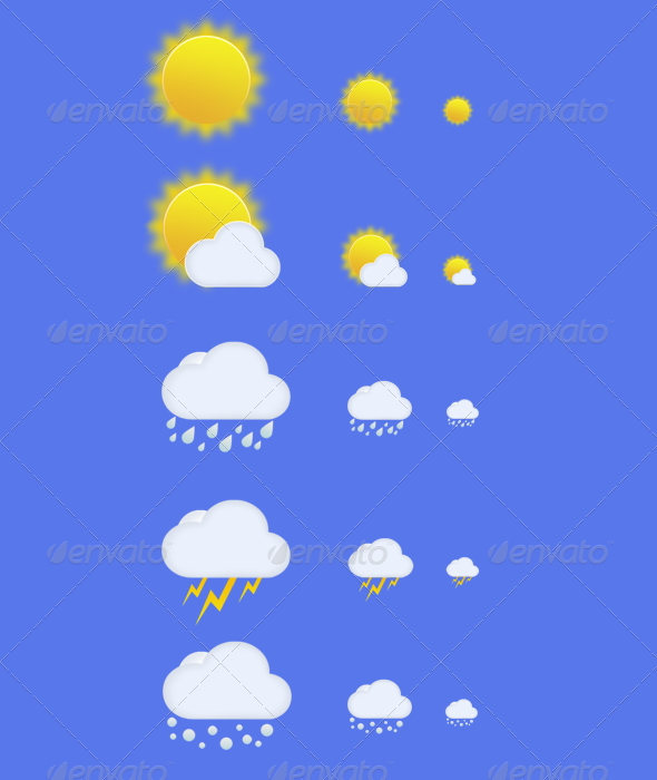 Graphic River Weather Icons Pack Icons -  Web 251313