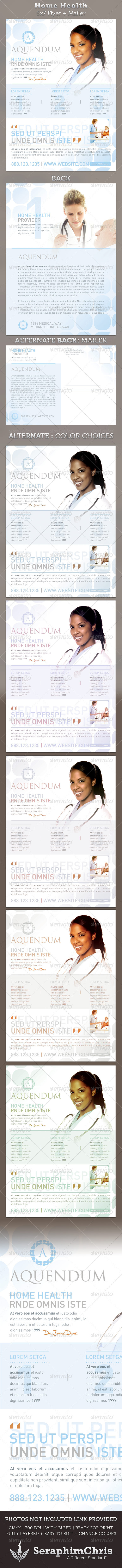 GraphicRiver Home Health 5x7 Medical Healthcare Flyer & Mailer 2220022
