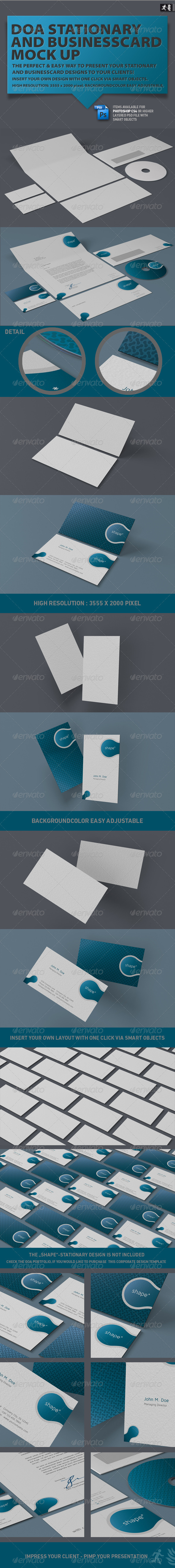 GraphicRiver DOA Stationary and Business Card Mock up 2221438