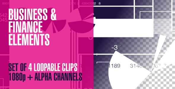 VideoHive Business & Finance Graphic Elements Pack Of 4 2221825