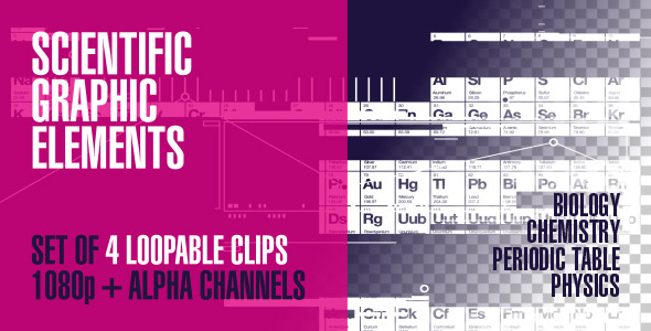 VideoHive Scientific Graphic Overlay Elements Pack Of 4 2221841