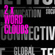 Technology & Social Media Word Clouds – Pack Of 2 - VideoHive Item for Sale