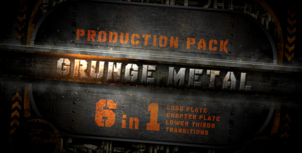 After Effects Project - VideoHive grunge metal production pack 2224440