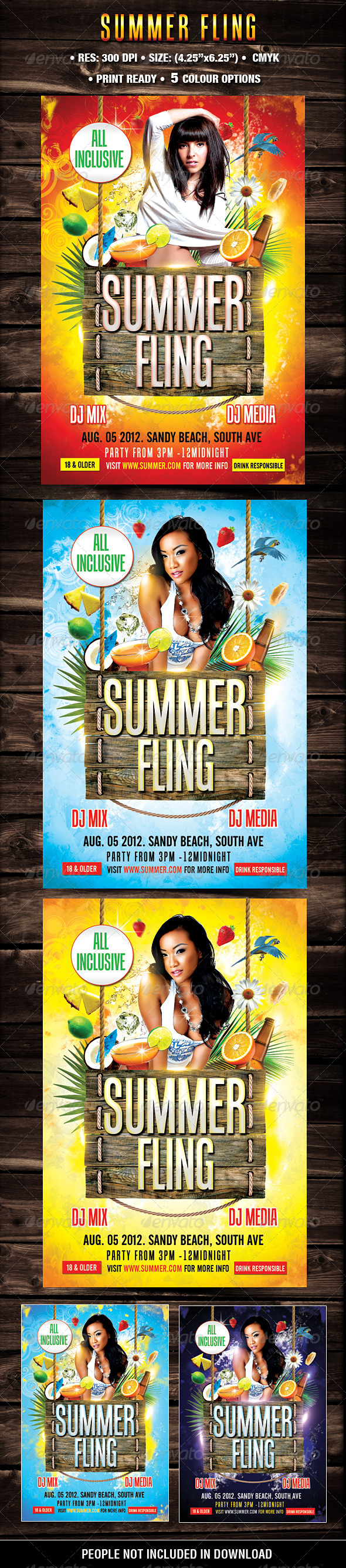 GraphicRiver Summer Fling Template 2210603