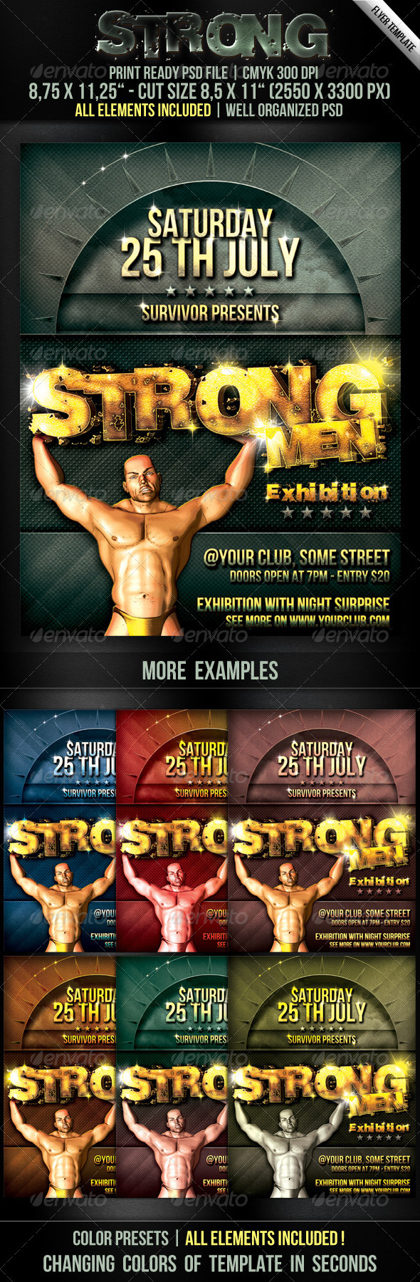 GraphicRiver Strong Men Flyer Template 252577
