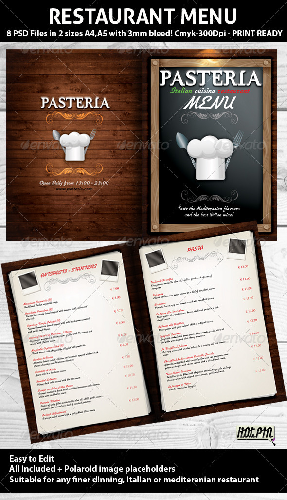 GraphicRiver Restaurant Menu PSD Template 252709