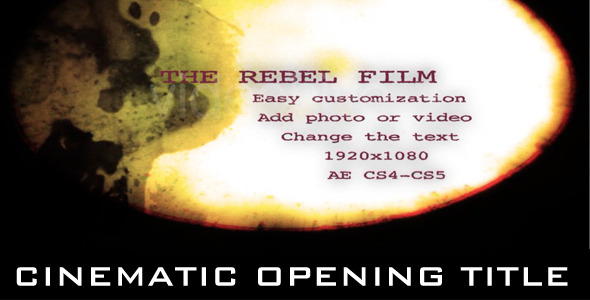 After Effects Project - VideoHive Rebel Film Opening 2228802