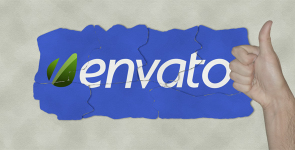 VideoHive Stop Motion Paper Logo Reveal 2228932
