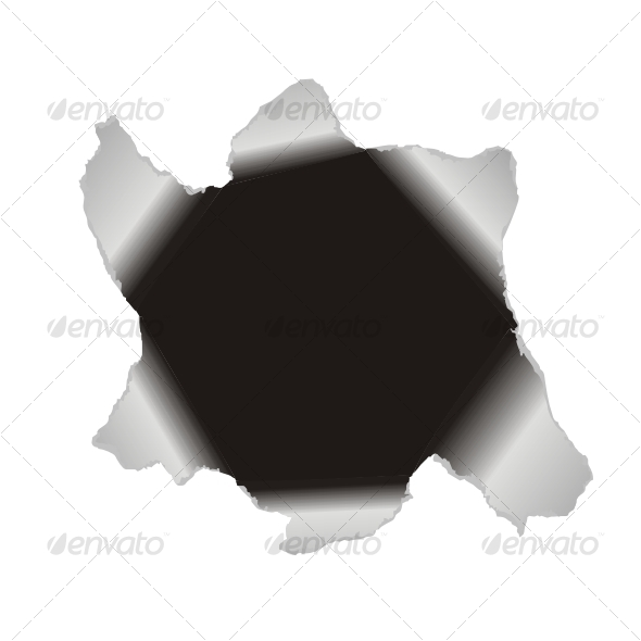 GraphicRiver Large hole in the white paper Vector background 83398