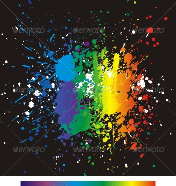 GraphicRiver Color paint splashes Gradient vector background 83506