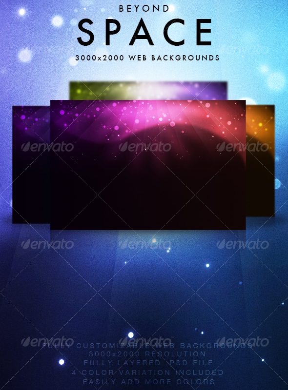 GraphicRiver Beyond Space Backgrounds 83303