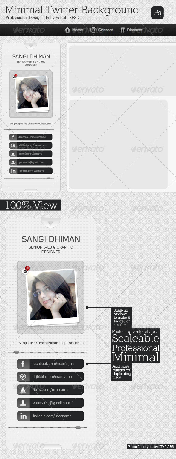 GraphicRiver Minimal Twitter Background 2214022