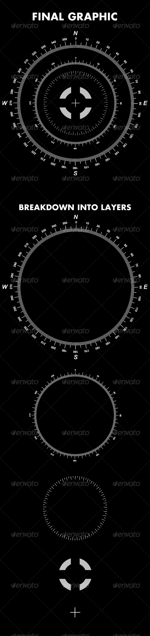 GraphicRiver Detailed Hi Tech Compass Layered 83624
