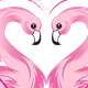 Valentine's day flamingo - GraphicRiver Item for Sale