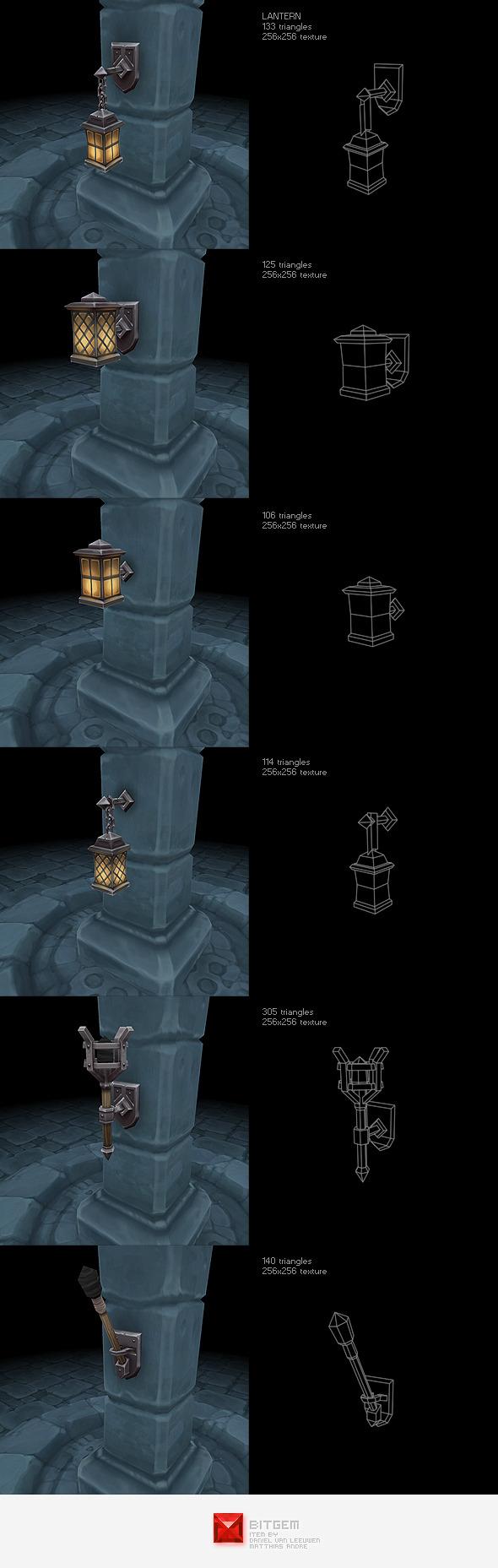 3DOcean Low Poly Lantern Set 2242674