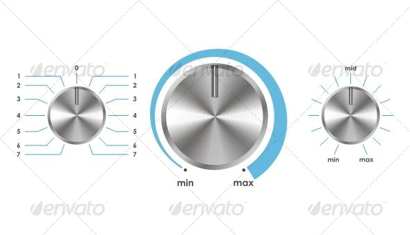 GraphicRiver Vector volume balance knobs 83785