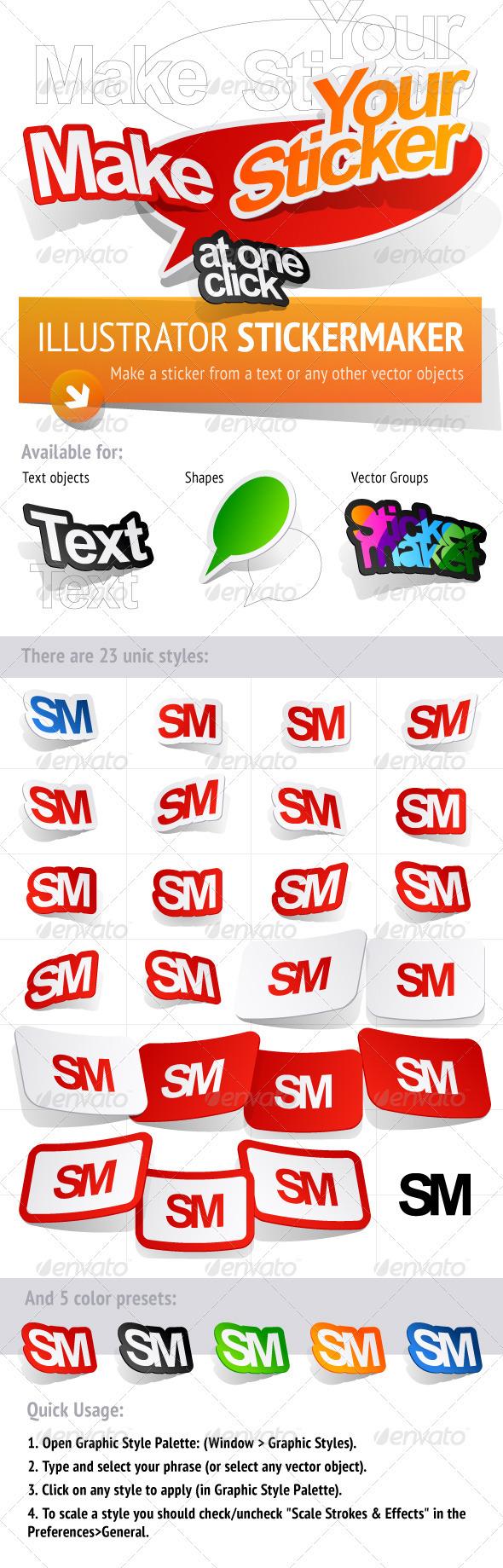 GraphicRiver Sticker Maker Adobe Illustrator Graphic Styles 2243678