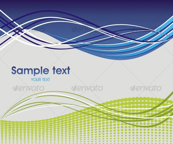 GraphicRiver Dynamic wave background in blue and green 83804