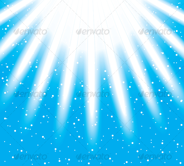 GraphicRiver Vector snowflakes descending on a path of light ra 83814