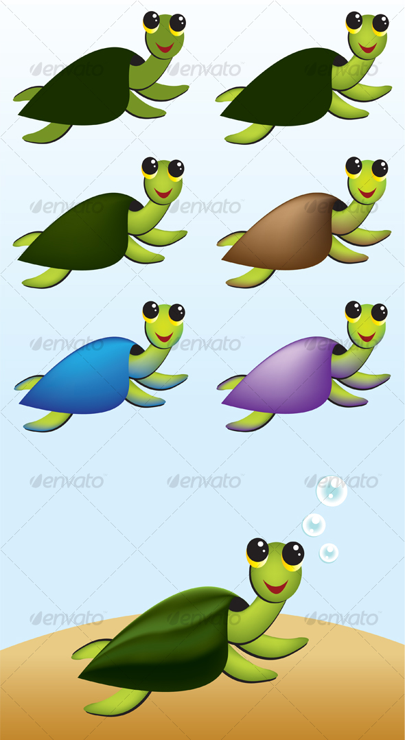 GraphicRiver Sea Turtle 83876