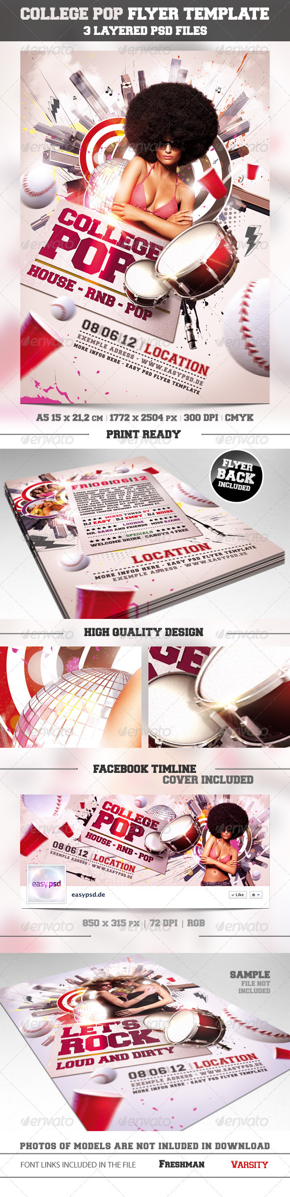 GraphicRiver College Pop Flyer Template 2246693