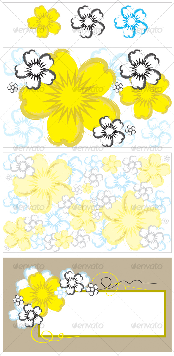 GraphicRiver Vector Flower Background and Banner 83881