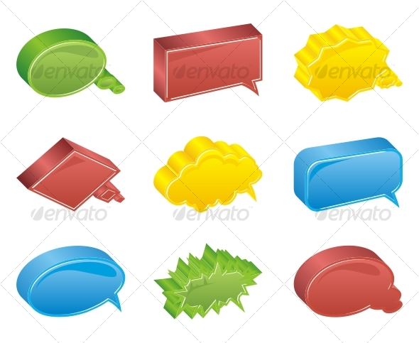 GraphicRiver Colour bubbles collection Vector 3d 83894