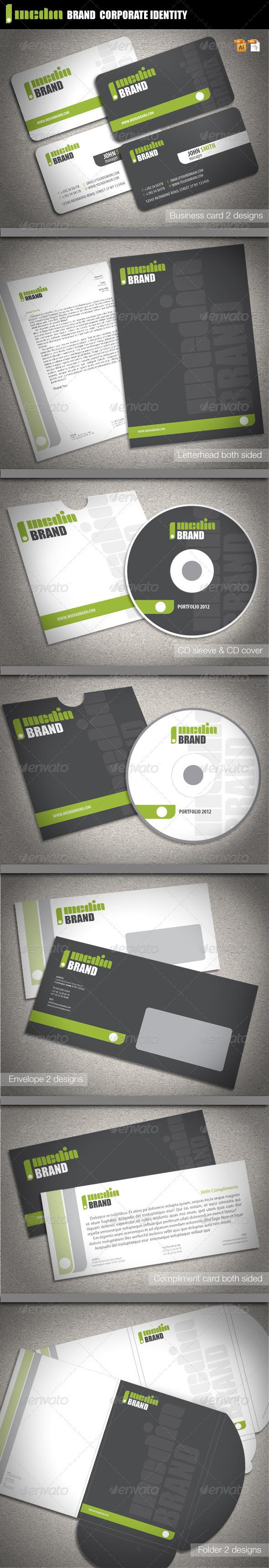 GraphicRiver Media Brand Corporate Identity 2228566