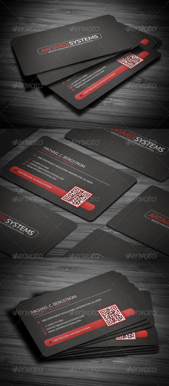 GraphicRiver Creative QR Code Business Card 2250382