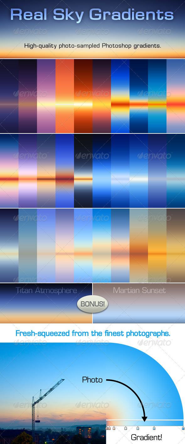 GraphicRiver 30 Real Sky Gradients 2251482