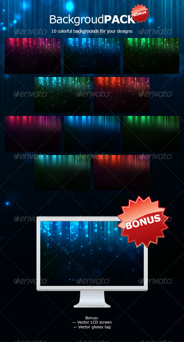 Graphic River Web Background Pack  Graphics -  Backgrounds 84085