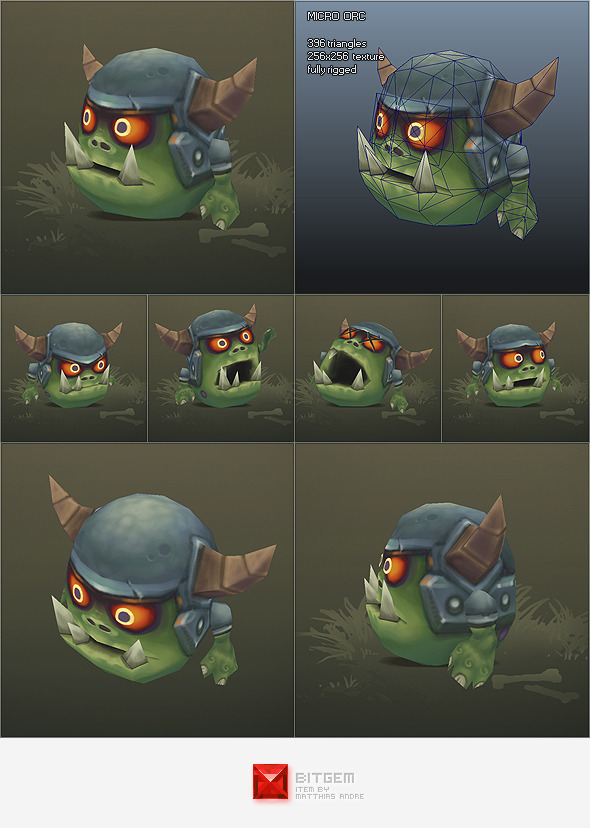 3DOcean Low Poly Micro Orc Gronk 1718720
