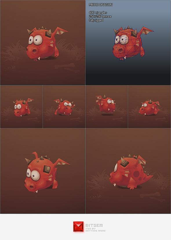 3DOcean Low Poly Micro Dragon Fino 1242542