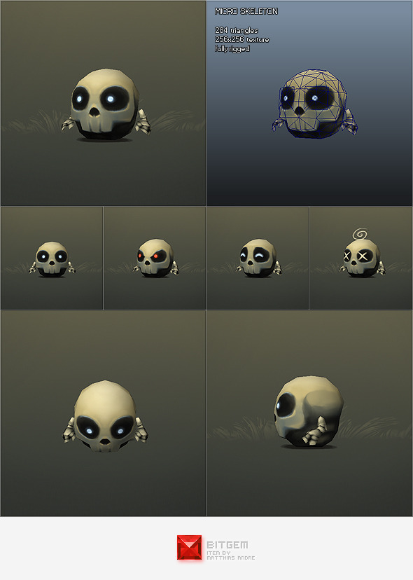 3DOcean Low Poly Micro Skeleton Tom 1149642