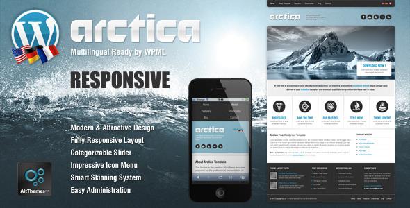 ThemeForest Arctica Responsive Wordpress Theme WordPress Retail Travel 2256852
