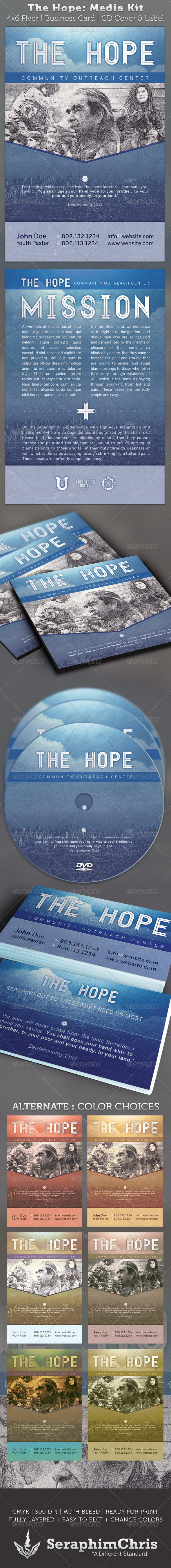 GraphicRiver The Hope Church Charity Media Kit Package 2256961