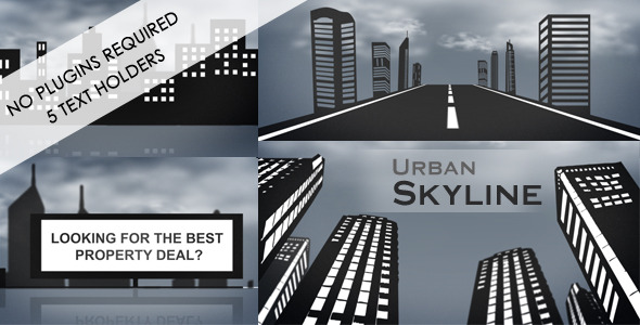After Effects Project - VideoHive Urban Skyline 255967