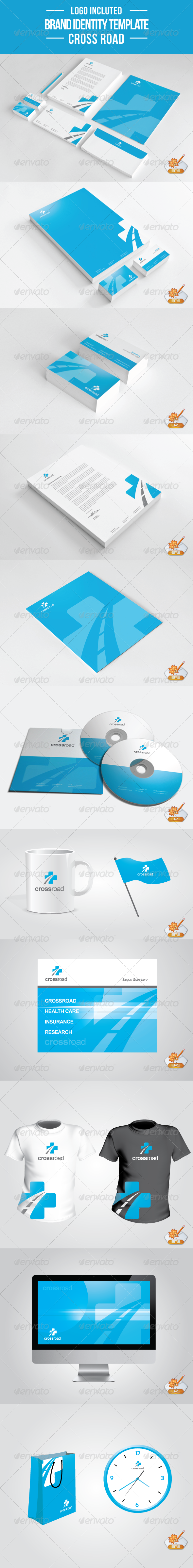GraphicRiver Cross Road Stationery Template 2244057