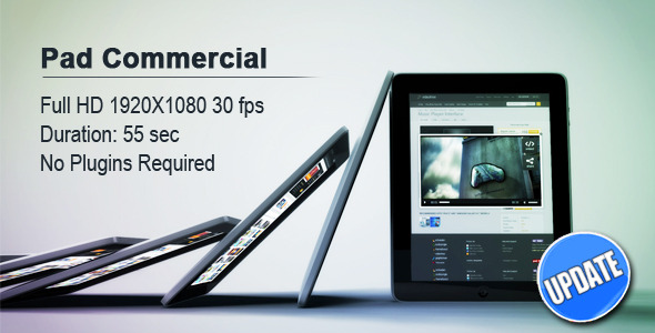 After Effects Project - VideoHive Pad Commercial 806791