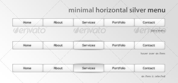 GraphicRiver Minimal horizontal silver menu 84330