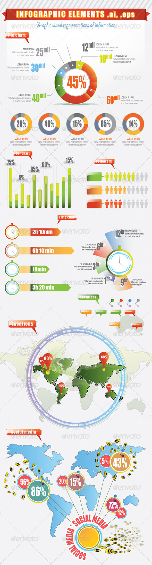 GraphicRiver Infographic Elements Visual Representations 2261759