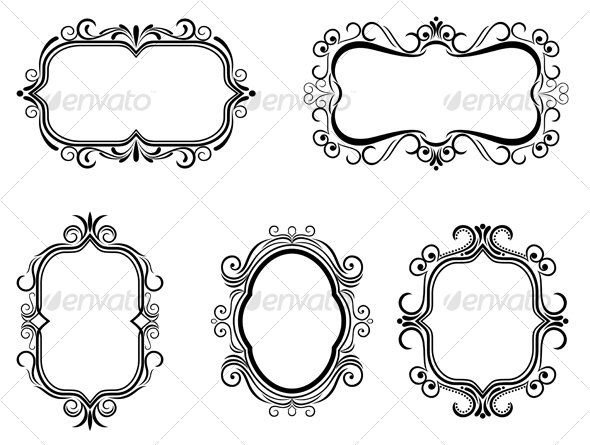GraphicRiver Antique vintage frames 84382