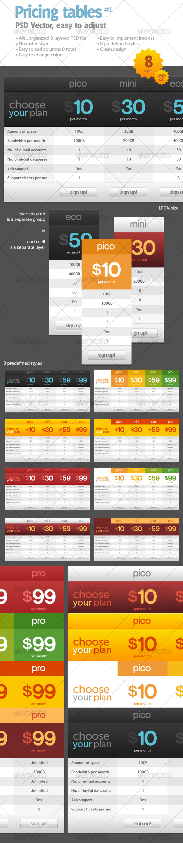 GraphicRiver Pricing tables #1 84427