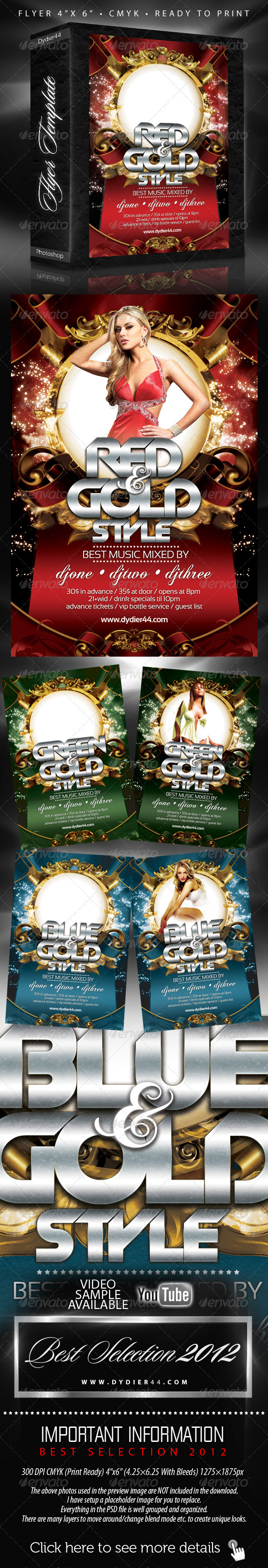 GraphicRiver Colors and Gold Flyer Template 4x6 1251771