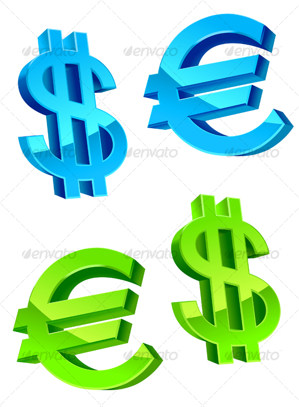 GraphicRiver Glossy currency symbols 84519