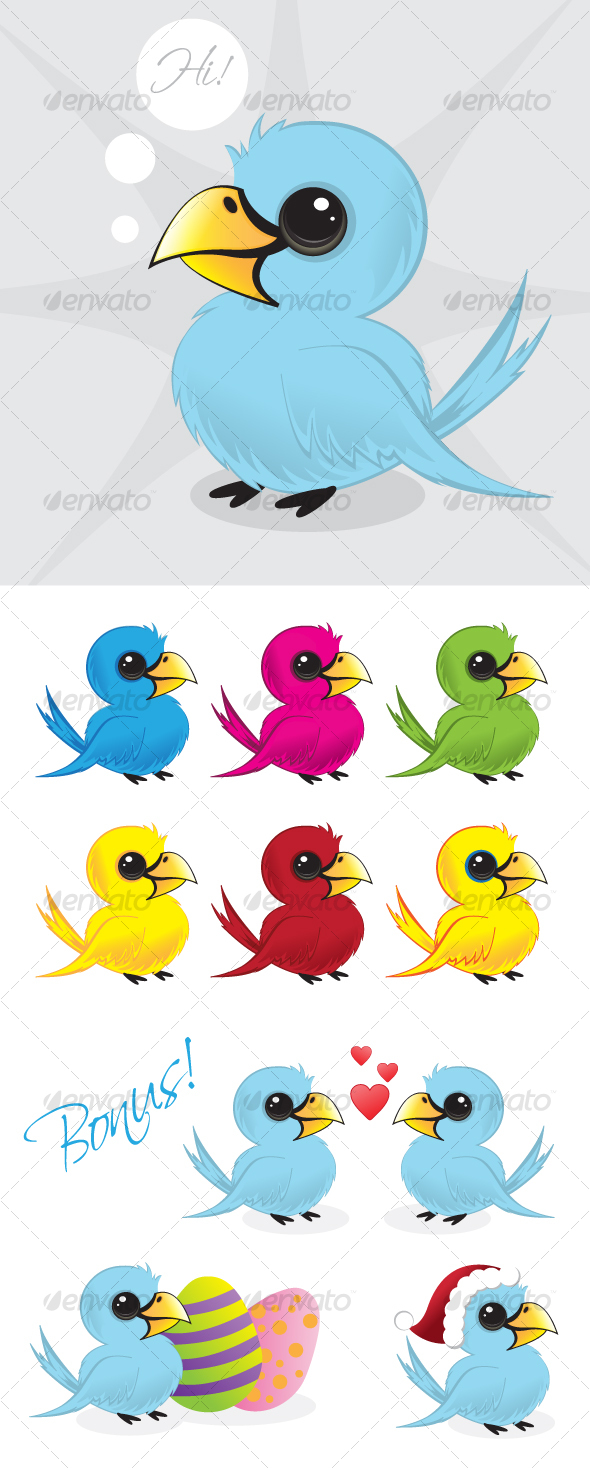 GraphicRiver Vector twitter bird illustration 84648