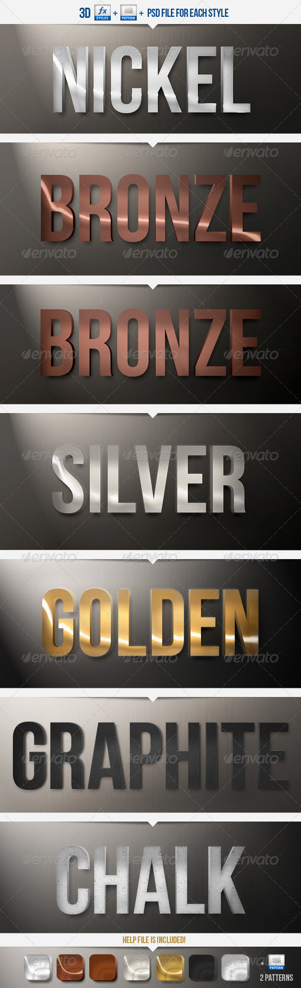 GraphicRiver 3D Platinum Collection PS Styles 2273998