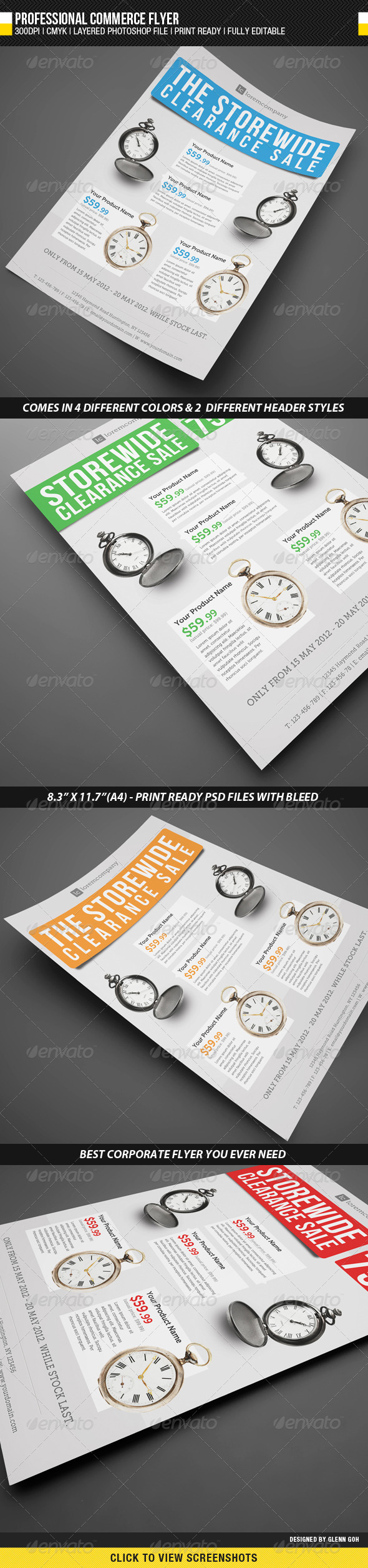 GraphicRiver Professional Commerce Flyer 2274760