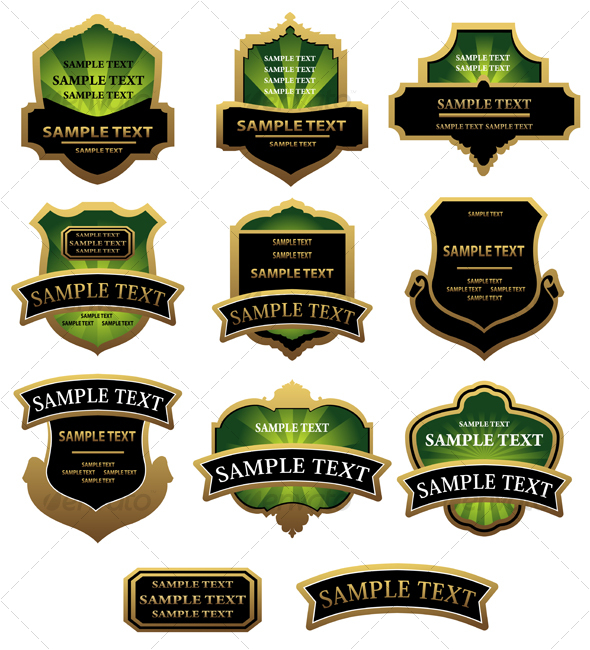 GraphicRiver Set of labels 84755
