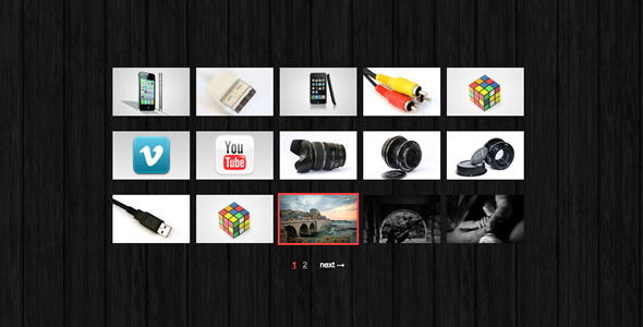 CodeCanyon jQuery Fullscreen Grid Gallery 596092